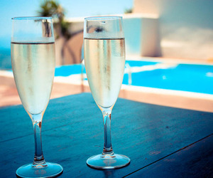 drink, summer, and champagne image