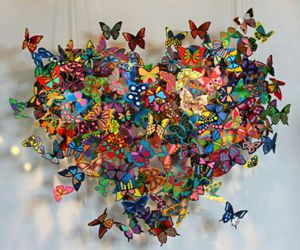colors, butterfly, and papillon image