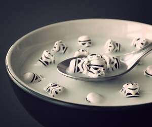 star wars, cereal, and milk image