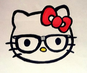 funny, glasses, and hello kitty image