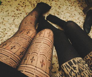 girl, legs, and tights image