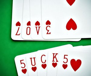 love, cards, and sucks image