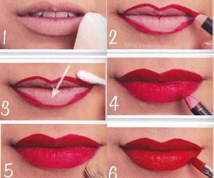 lips, red, and tutorial image