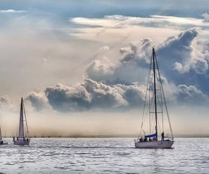 clouds and sea image