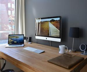 imac, apple, and macbook image