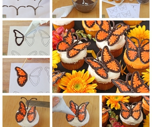 butterfly, chocolate, and diy image