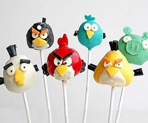 angry birds and food image
