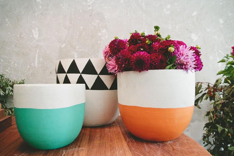diy, paint, and plant pot image