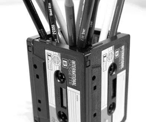 cassette, crayons, and diy image