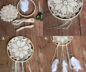 diy, dreamcatcher, and feather image