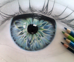 blue, drawing, and blue eyes image