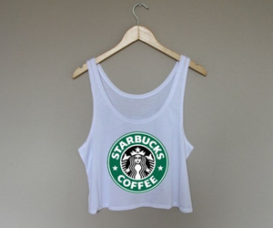fashion, starbucks, and tank top image