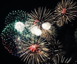 diamonds, firework, and fireworks image