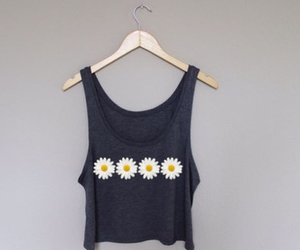 fashion, flower, and tank top image