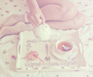 tea, pastel, and pink image