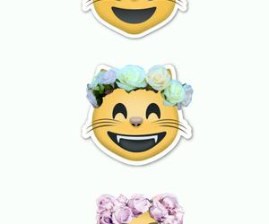 cat, emoji, and wallpaper image