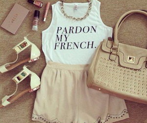 french, makeup, and purses image