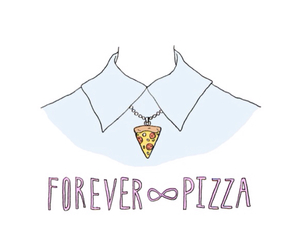 pizza, food, and forever image