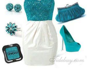 bag, blue, and evening dress image