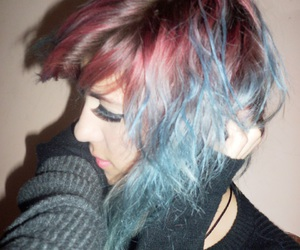 alternative, bluehair, and crazy hair image