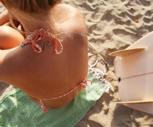 beach, surf, and tatto image