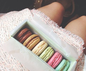 food, legs, and macarones image