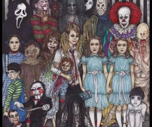 horror, scary, and terror image