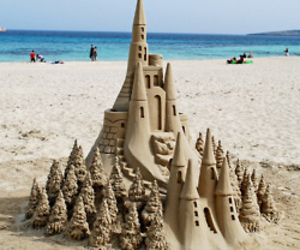 sand, beach, and castle image