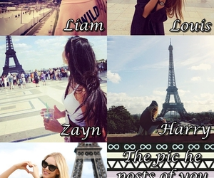 beautiful, eiffel tower, and girl image