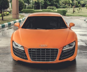 audi, car, and orange image