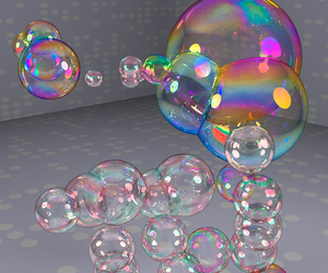 bubbles, flash, and prism image