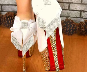 shoes, white, and red image