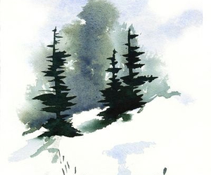 art, water color, and cute image