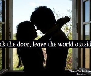 text, couple, and door image