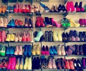 colours, girl, and scarpe image