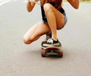 cool, shoes, and longboard image