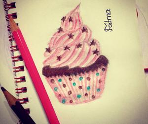 art, cupcake, and draw image