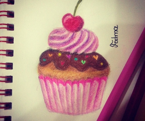 art, cake, and cupcake image