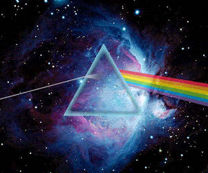 Pink Floyd, galaxy, and triangle image