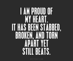 quote, heart, and proud image