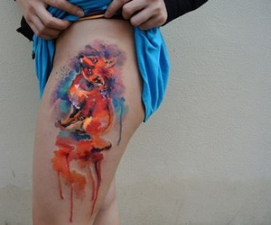 art, leg, and tattoo image