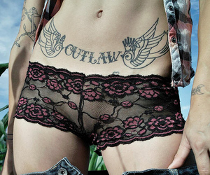 belly tattoo, stomach tattoo, and flat stomach image