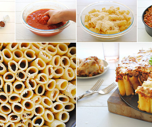 food, pasta, and pie image