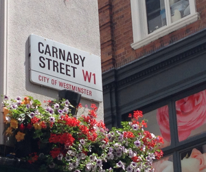 carnaby street, flowers, and london image