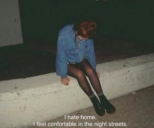 grunge, night, and street image