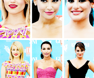 dianna agron, lea michele, and glee cast image