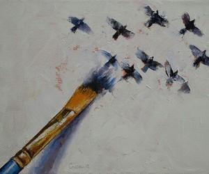 bird, art, and painting image
