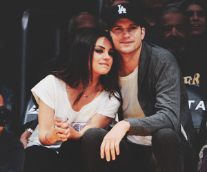 ashton kutcher, Mila Kunis, and couple image