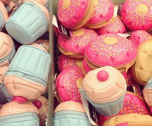 cupcake, bag, and donuts image