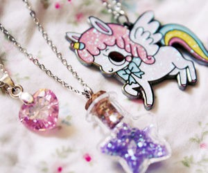 unicorn, cute, and star image